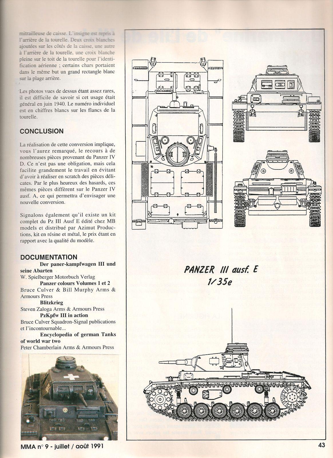 Panzer III Aust.E de la campagne de France