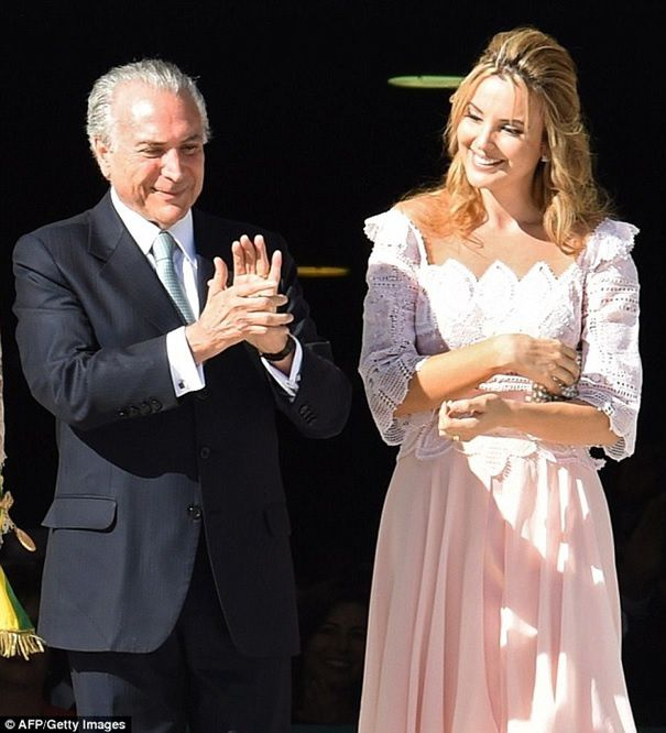 Mr et Mme Temer dailymail.co.uk