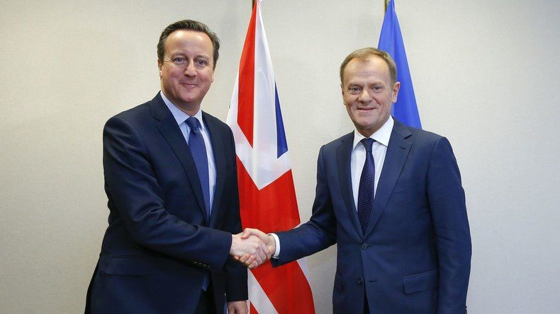 Source: AFP Donald Tusk et David Cameron