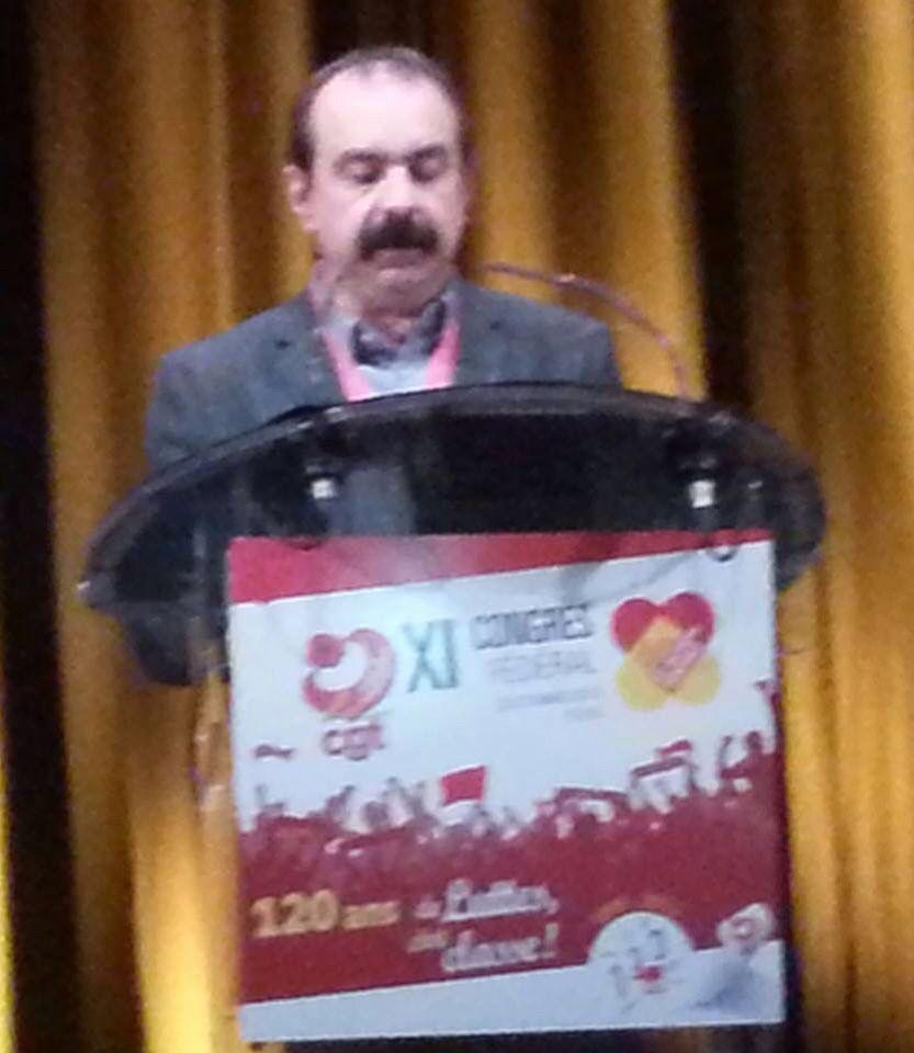 Philippe Martinez au congrès de la fédération.
