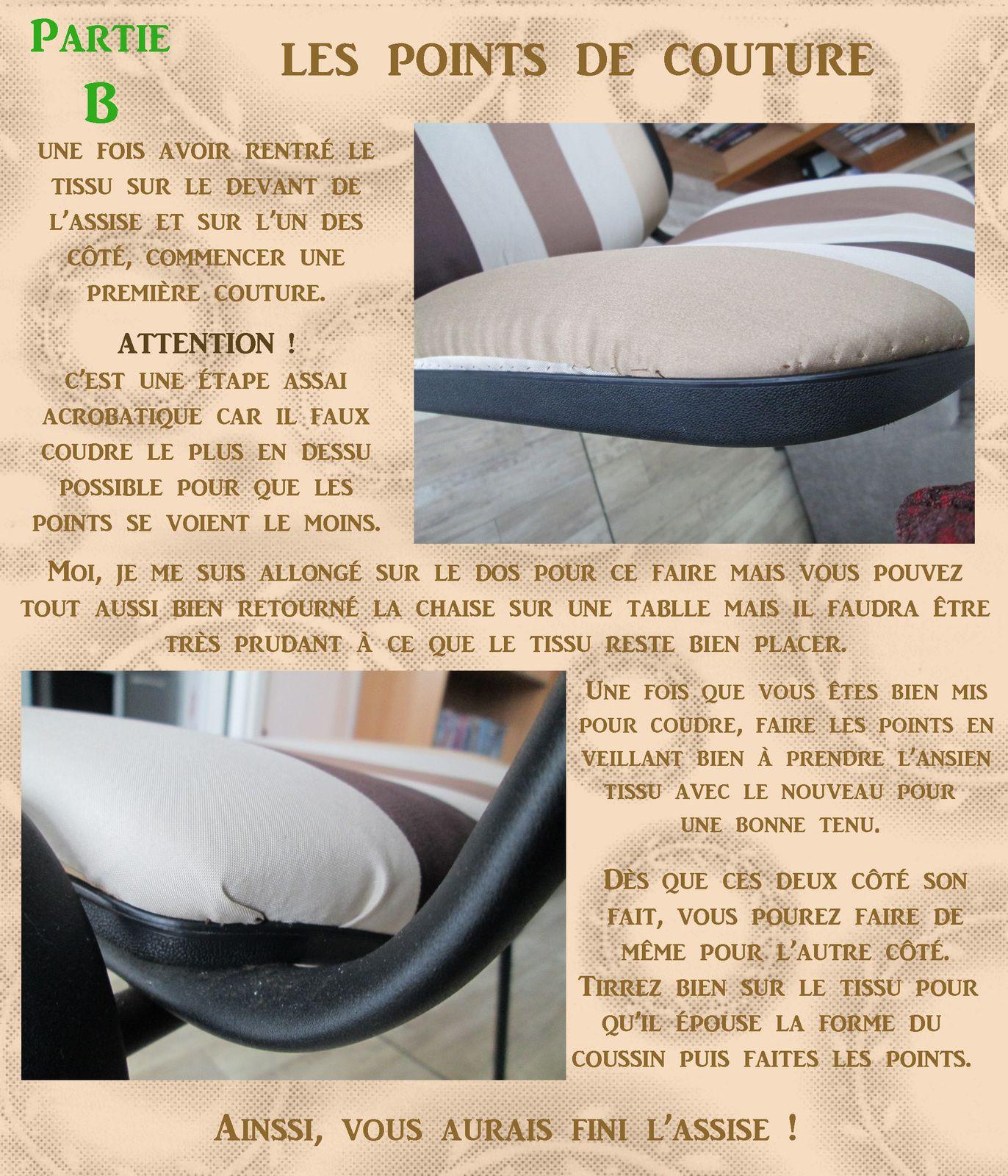 Tuto gratuit  :  Retâpisser une chaise de bureau