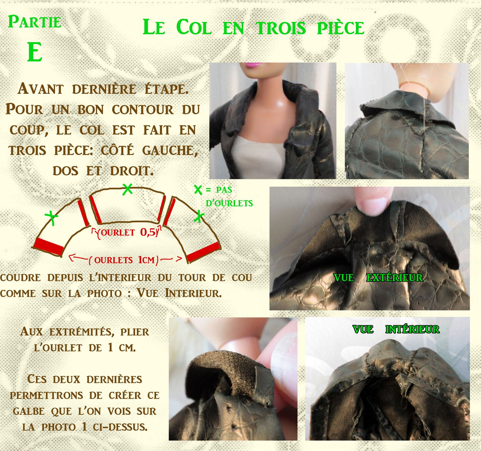 Tuto gratuit barbie: Un Trench pour Barbie