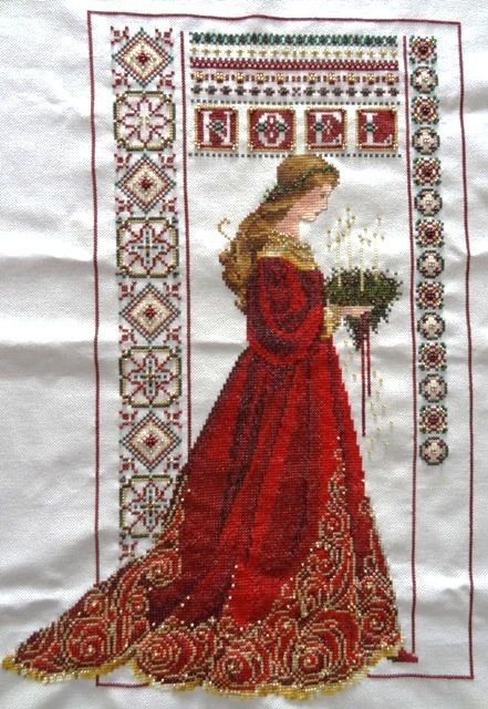 des photos de la sublime broderie faite par Moniqueb