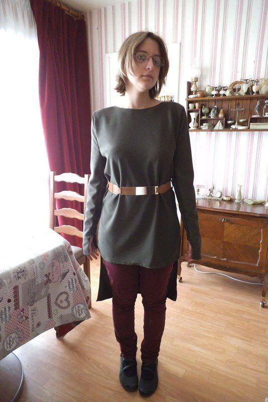 couture, ma nouvelle robe asymétrique &#x3B; créée  , coupée, cousue par moi :)