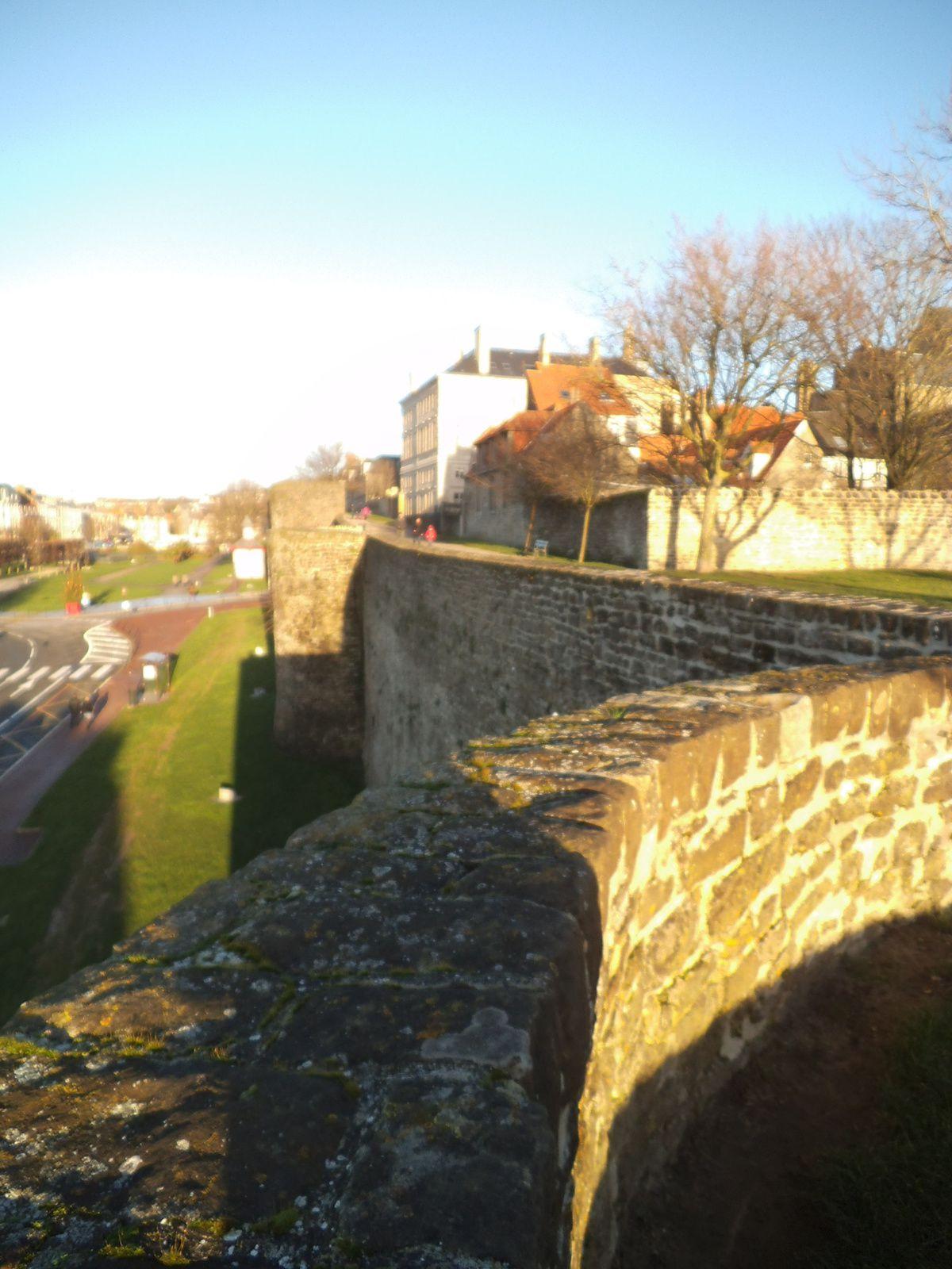 du haut des remparts de Boulogne sur mer