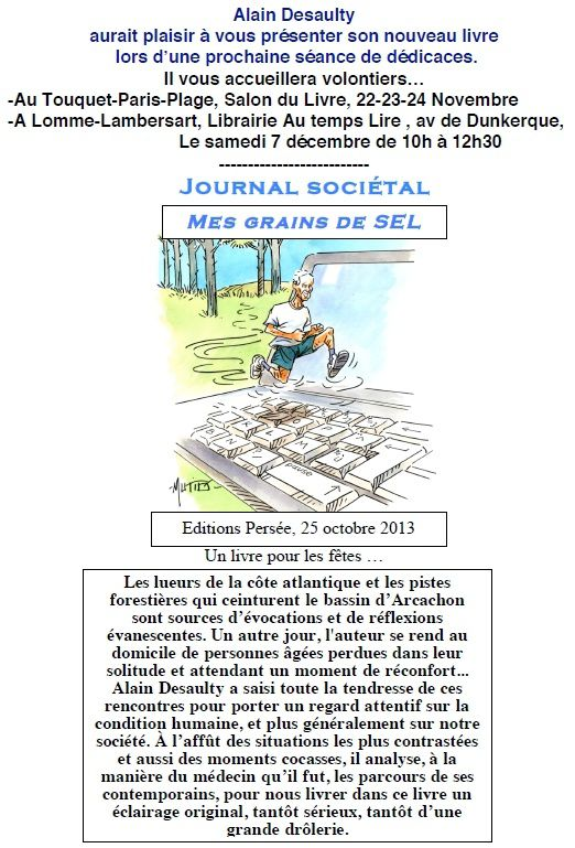 A.Desaulty - Mes Grains de Sel - Journal Sociétal