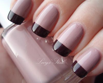 My favourite fall manicure with Essie Lady Like and Carry On from ...