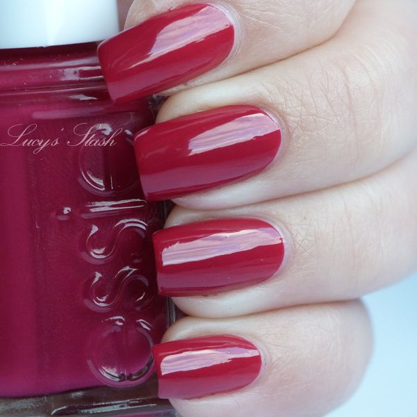 Essie Raspberry - review and swatches - Lucy\'s Stash