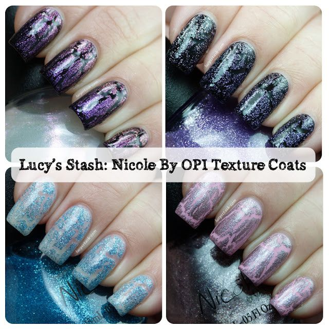 Nicole by OPI Texture coats - Review and swatches of four texture ...