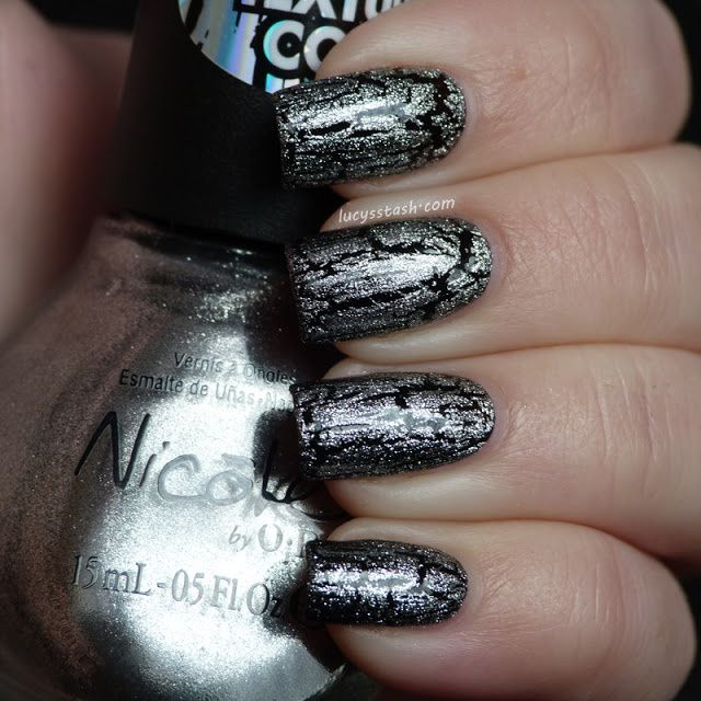 silver white texture nicole by opi texture coats review and swatches of last six