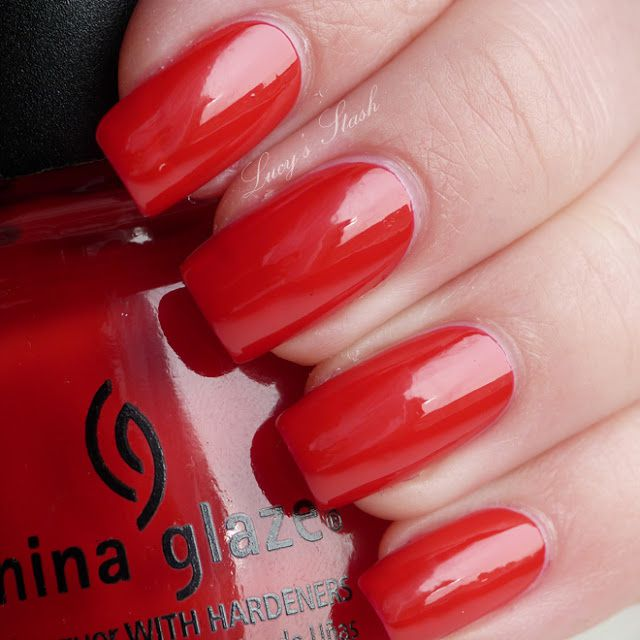 China Glaze Poinsettia from Let It Snow holiday collection