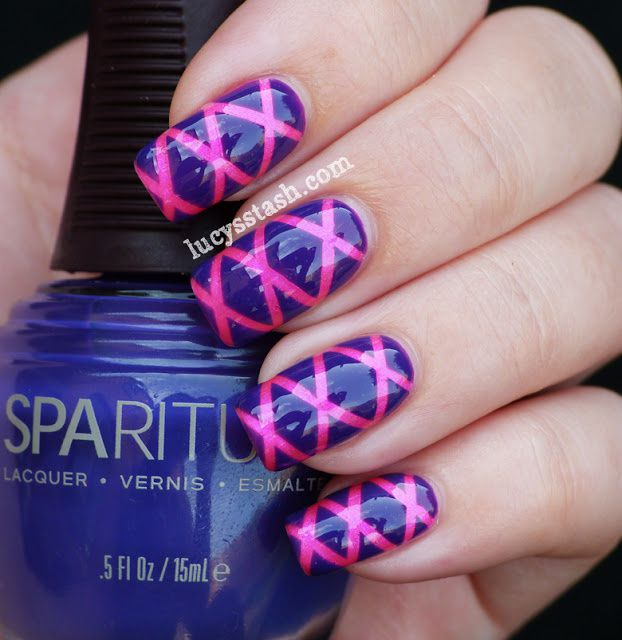Lucy's Stash: Striping tape nail art manicure with SpaRitual Imaginarium and Illume