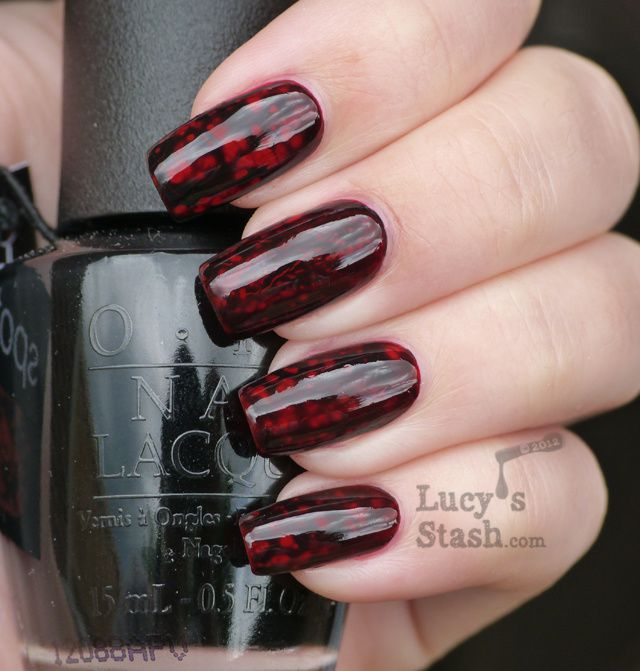 Lucy's Stash - OPI Black Spotted over Zoya Rekha