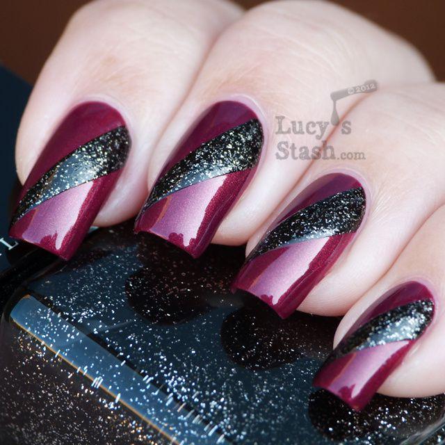 Lucy's Stash - Illamasqua Charisma and Creator nail art