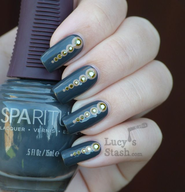 Nail art dotticure and review of SpaRitual Basalt from Rock ...