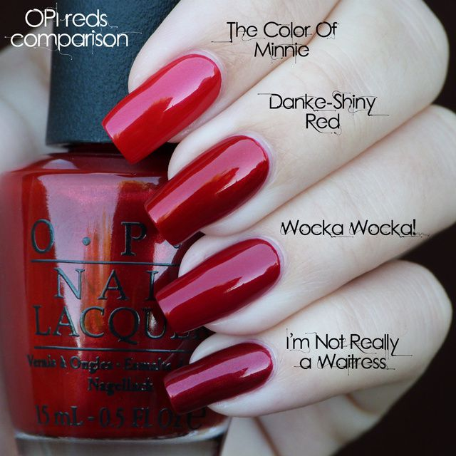 Lucy S Stash Opi Reds Comparison