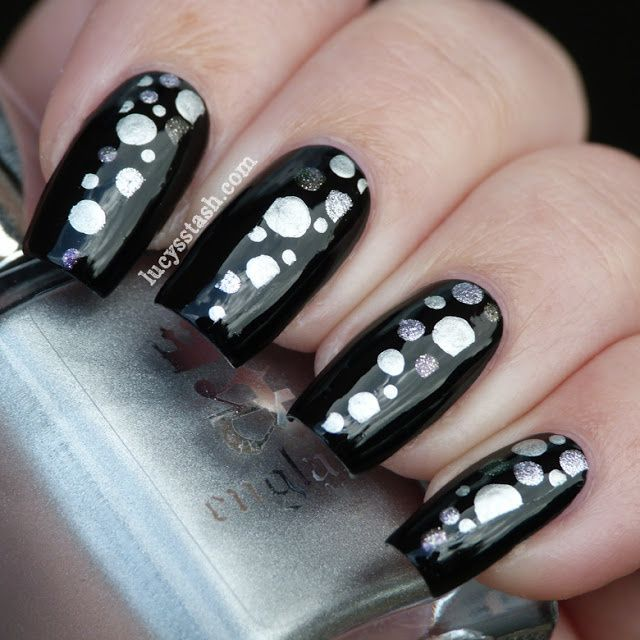 Lucy's Stash - black and silver dotticure