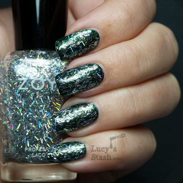 Lucy's Stash - Zoya Electra over Logan from Ornate collection