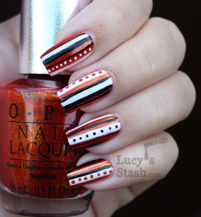 Lucy's Stash - Freehand stripy nail art