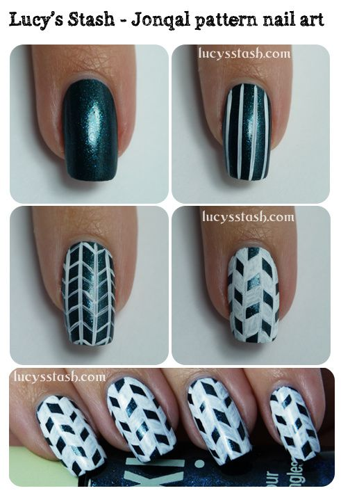 Jonqal Pattern Nail Art With Step By Step Tutorial