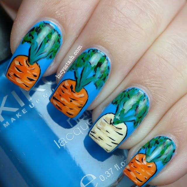 Lucy's Stash - Carrots & parsnip nail art