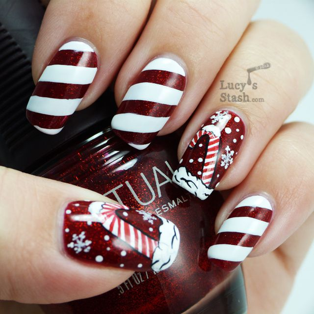 Candy cane holiday manicure and nail art competition entry i have entered this manicure into a nail art contest over at tanejas bride page so if you like it please give me your vote by simply liking the picture prinsesfo Images