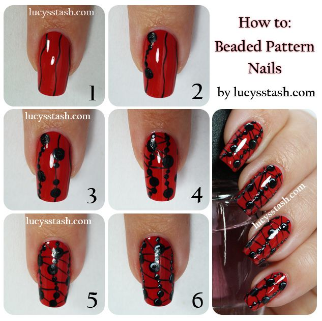 Lucy's Stash - Beaded Pattern Nails Tutorial