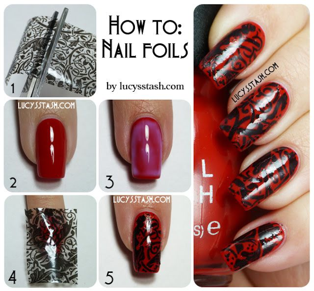 Lucy's Stash - Lace Nail Foils Tutorial