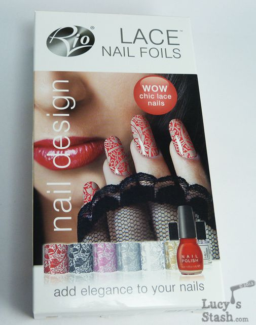 Lace nails foils and how to apply them plus review of rio beauty adhesive 2 in 1 varnish and red nail polish it all comes in a sturdy black case the set can be purchased at rio beauty website for 2999 prinsesfo Choice Image