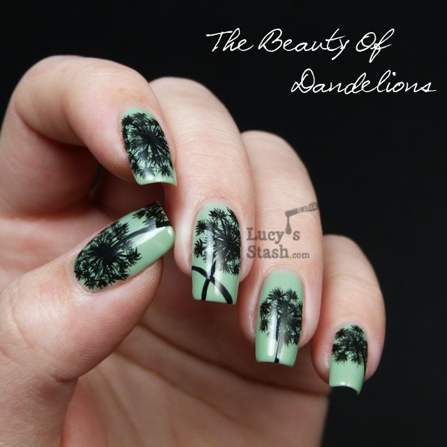 Dandelions On My Nailseehand Nail Art Over Sparitual