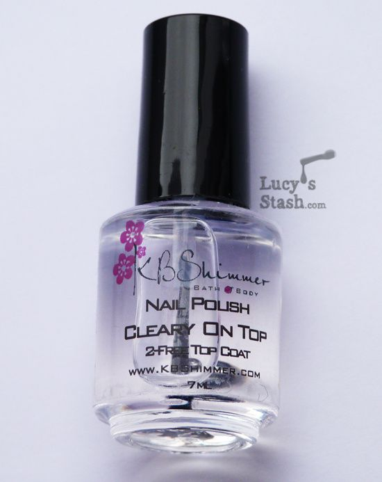 Lucy's Stash - KBShimmer Clearly on Top topcoat