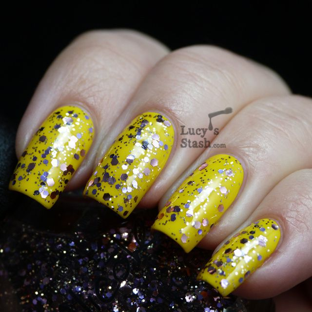 Lucy's Stash - Nicole By OPI Inner Sparkle over Hit The Lights