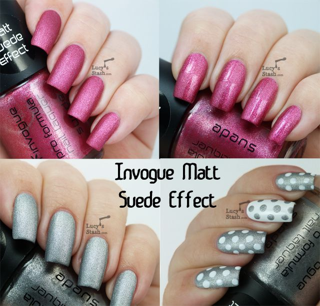 Lucy's Stash - Invogue Matt Suede Effect polishes