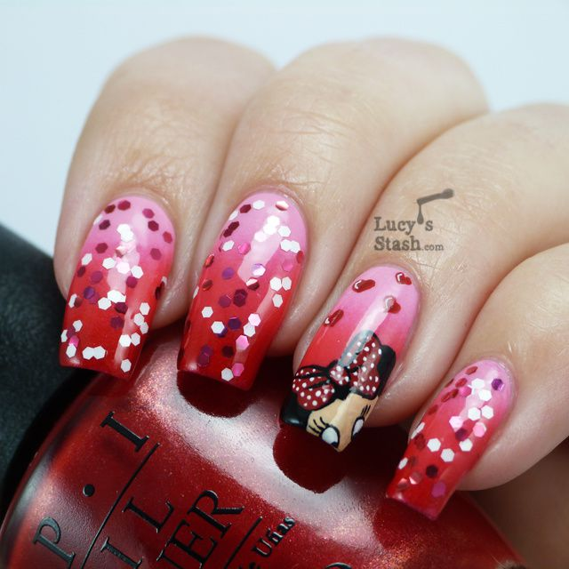 Lucy's Stash - OPI Couture de Minnie Nail Art