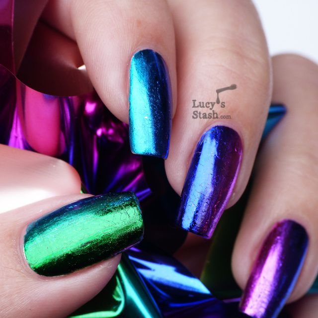 Rainbow Metallic Nail Polish: Gradient Nail Foil Manicure Feat. Born Pretty Store Nail