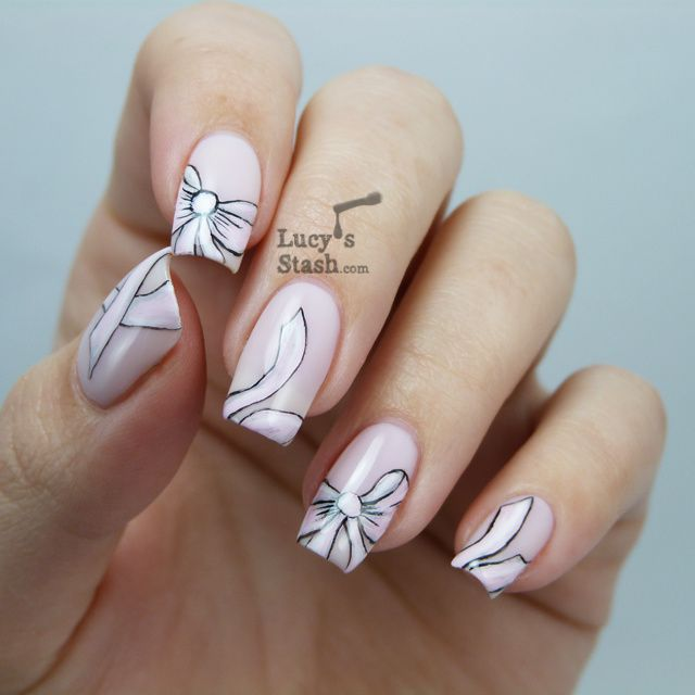 Bridal pink bow nail art with tutorial lucys stash lucys stash pink bow nail art with tutorial prinsesfo Images