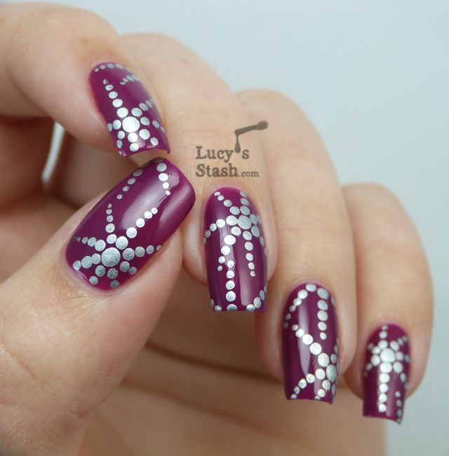Dotted Starfish Nail Art Over Clinique Hot Date Lucys Stash