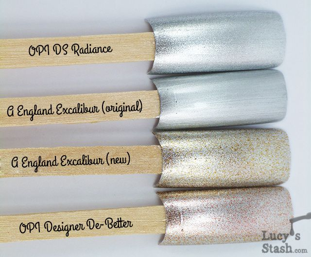 Lucy's Stash - comparison of A England Excalibur shades