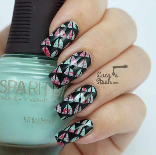 Nail Art design feat. SpaRitual polishes, Tutorial and GIVEAWAY!