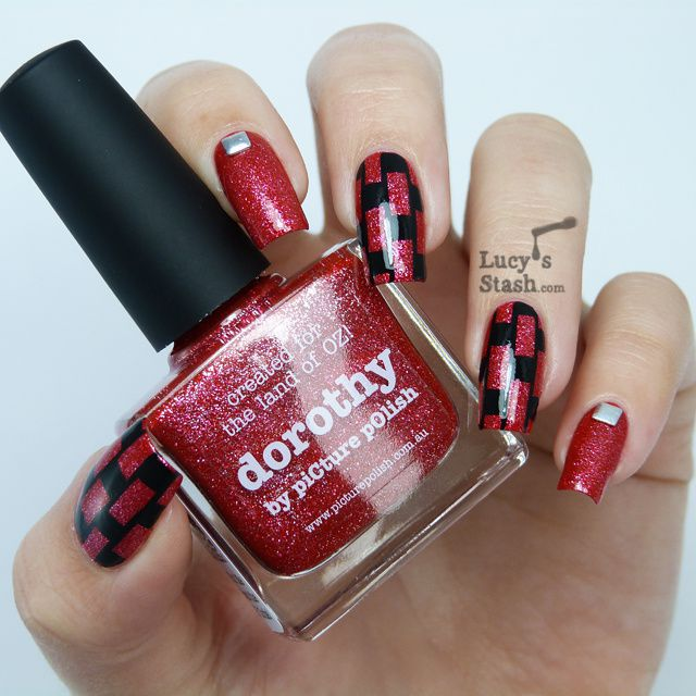piCture pOlish Monday: Patterned nail art featuring piCture pOlish Dorothy with tutorial!
