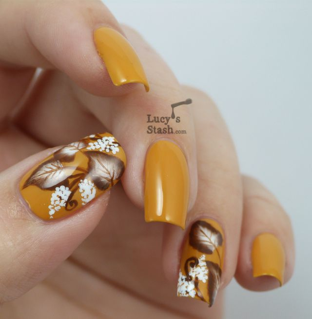 One Stroke Autumn Nail Art