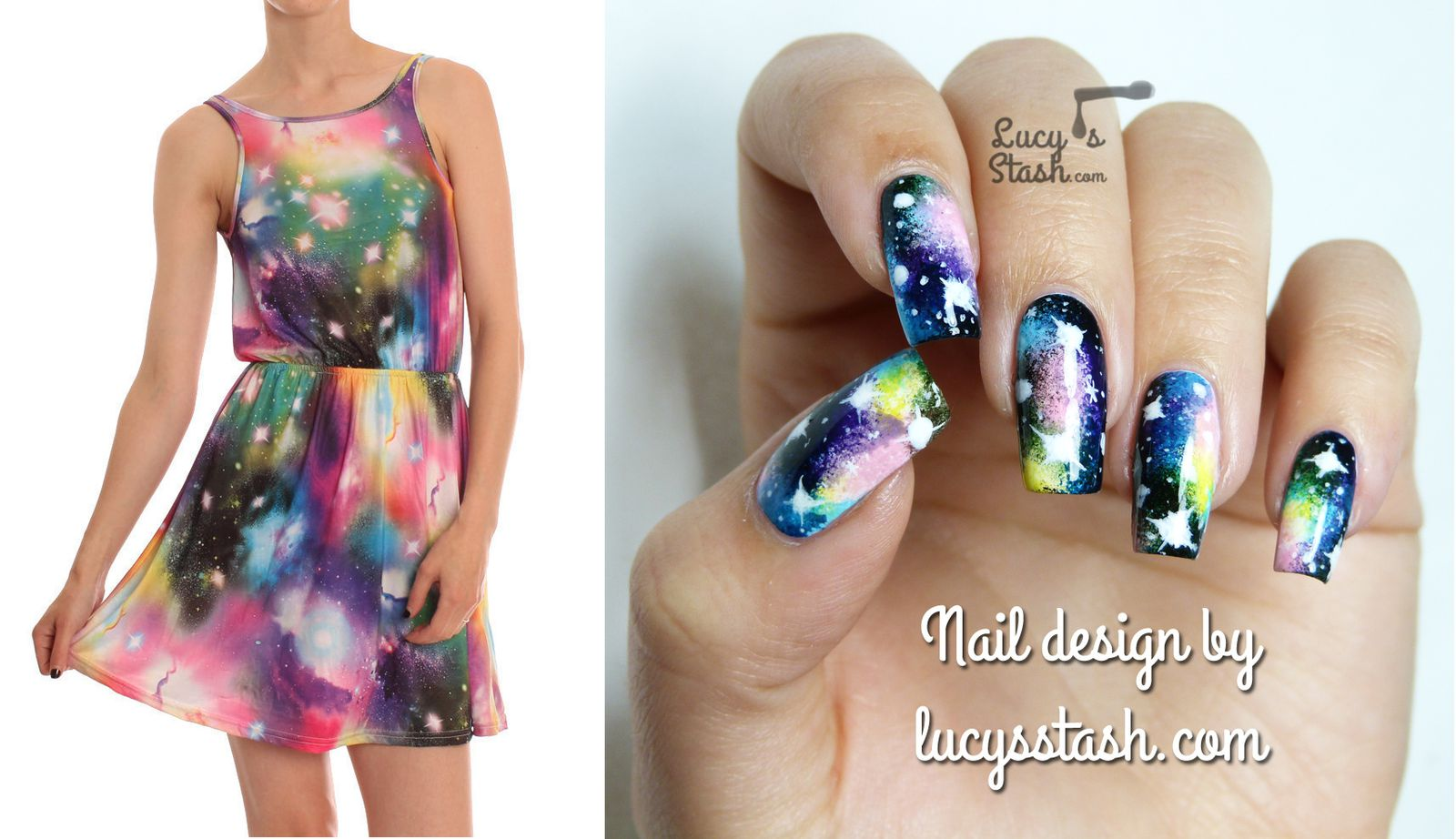 Fashion inspired: Two nail art designs, two dresses! - Lucy\'s Stash