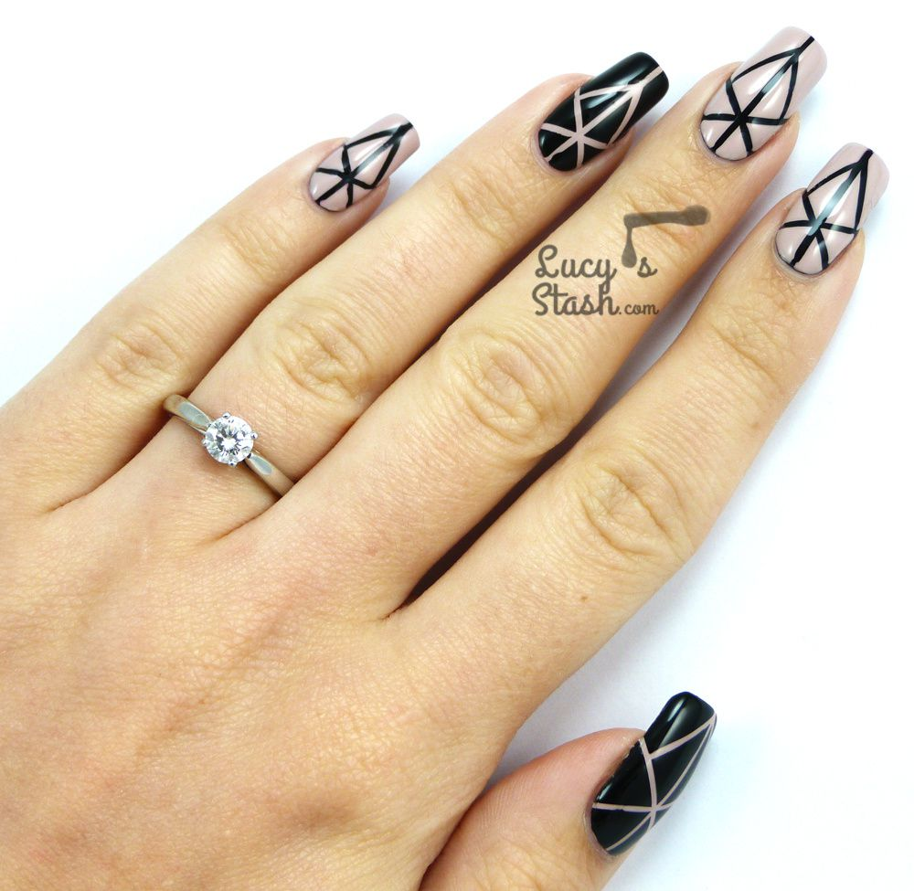 Fashion inspired: Two nail art designs, two dresses!