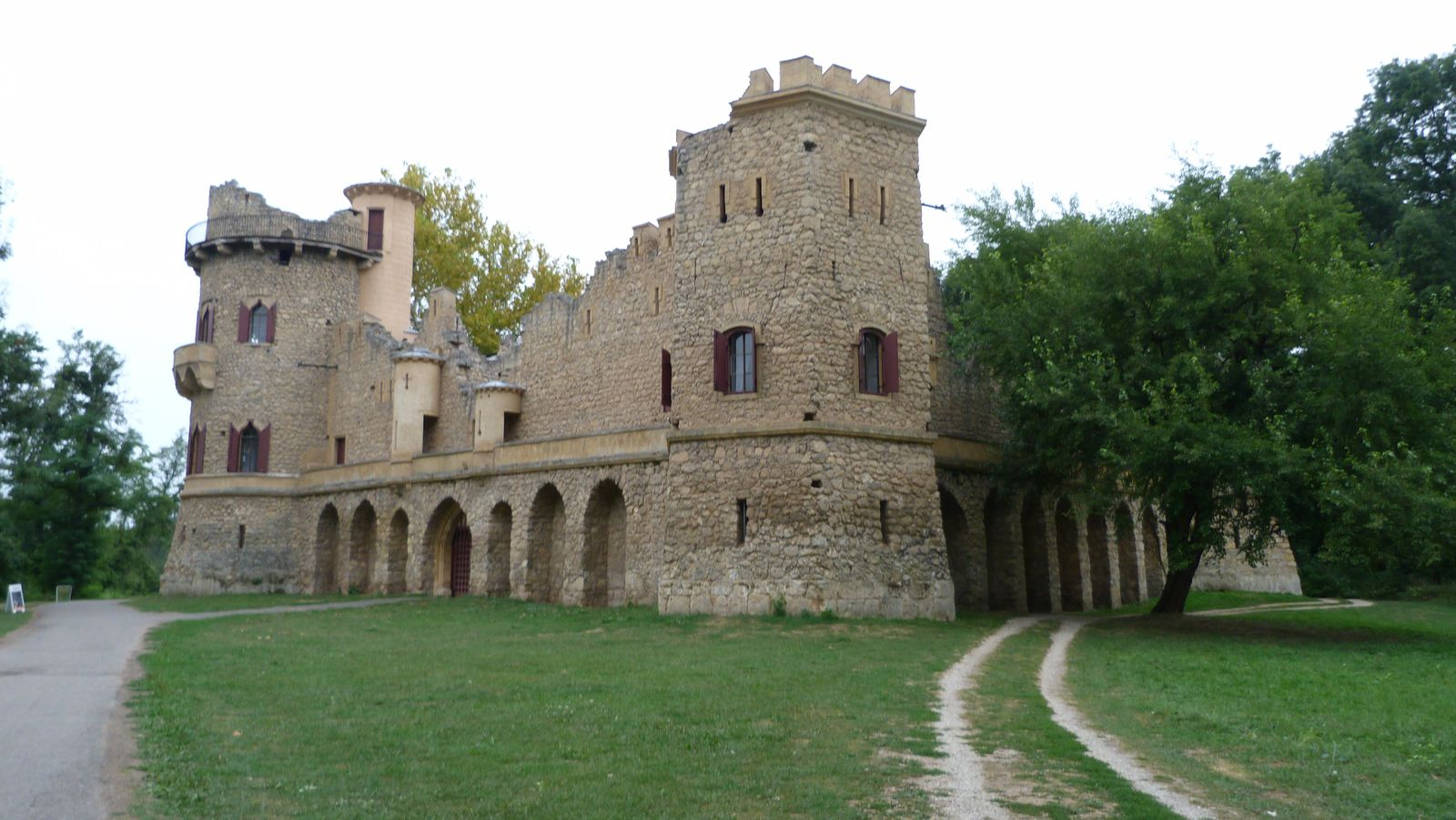 Januv castle (a purposely built ruin of a castle)