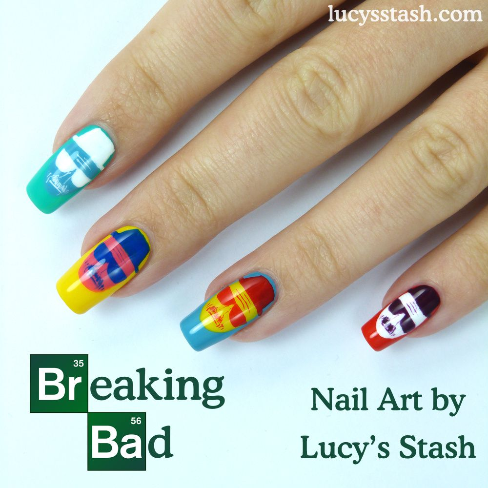 Breaking Bad Nail Art Warhol Style!!!