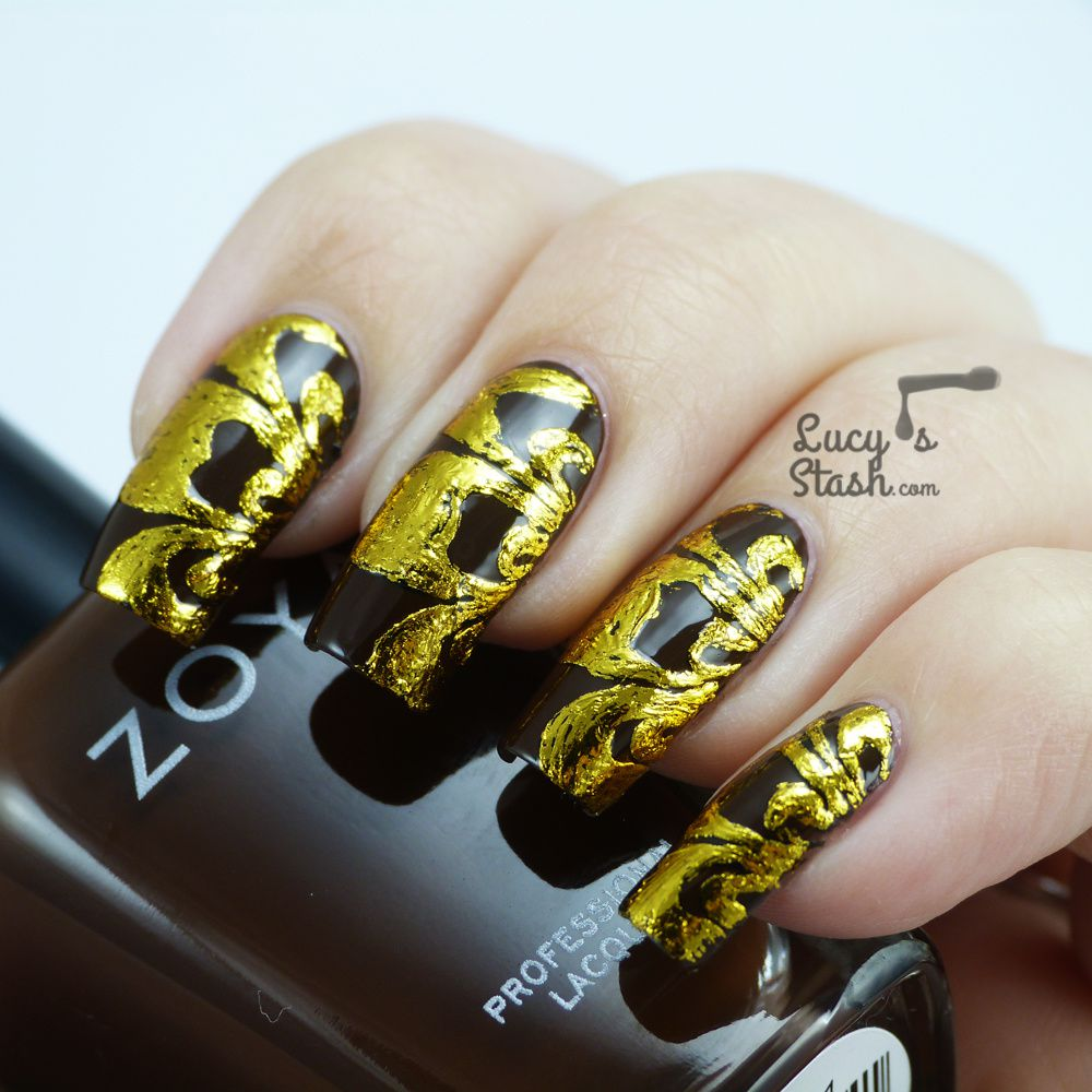Nail Foil nail art design with Tmart nail foils