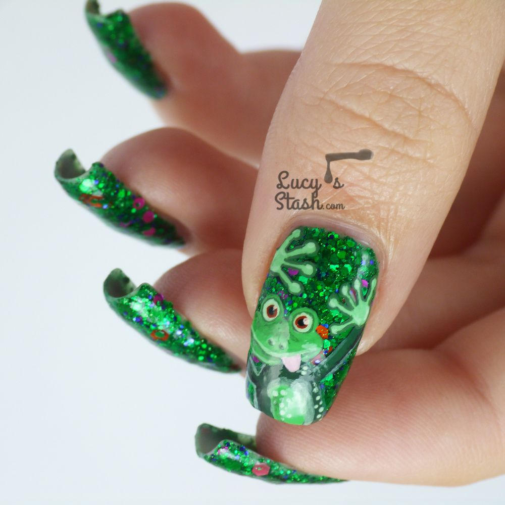 Cheeky Frog Nail Art Design feat. Femme Fatale Noble Garden - Lucy\'s ...