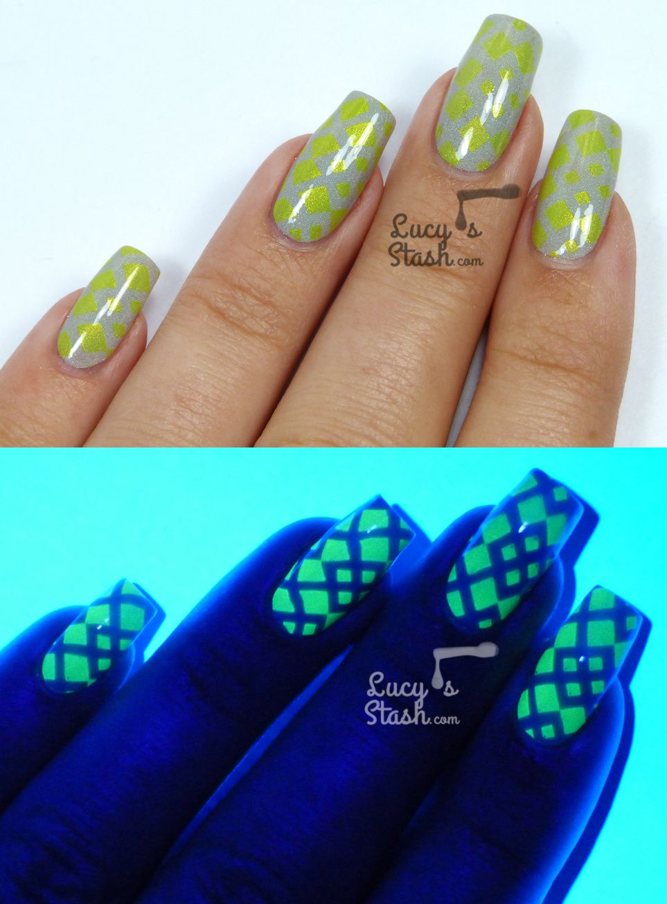 UV Glowing Stamping Nail Art! - Lucy\'s Stash