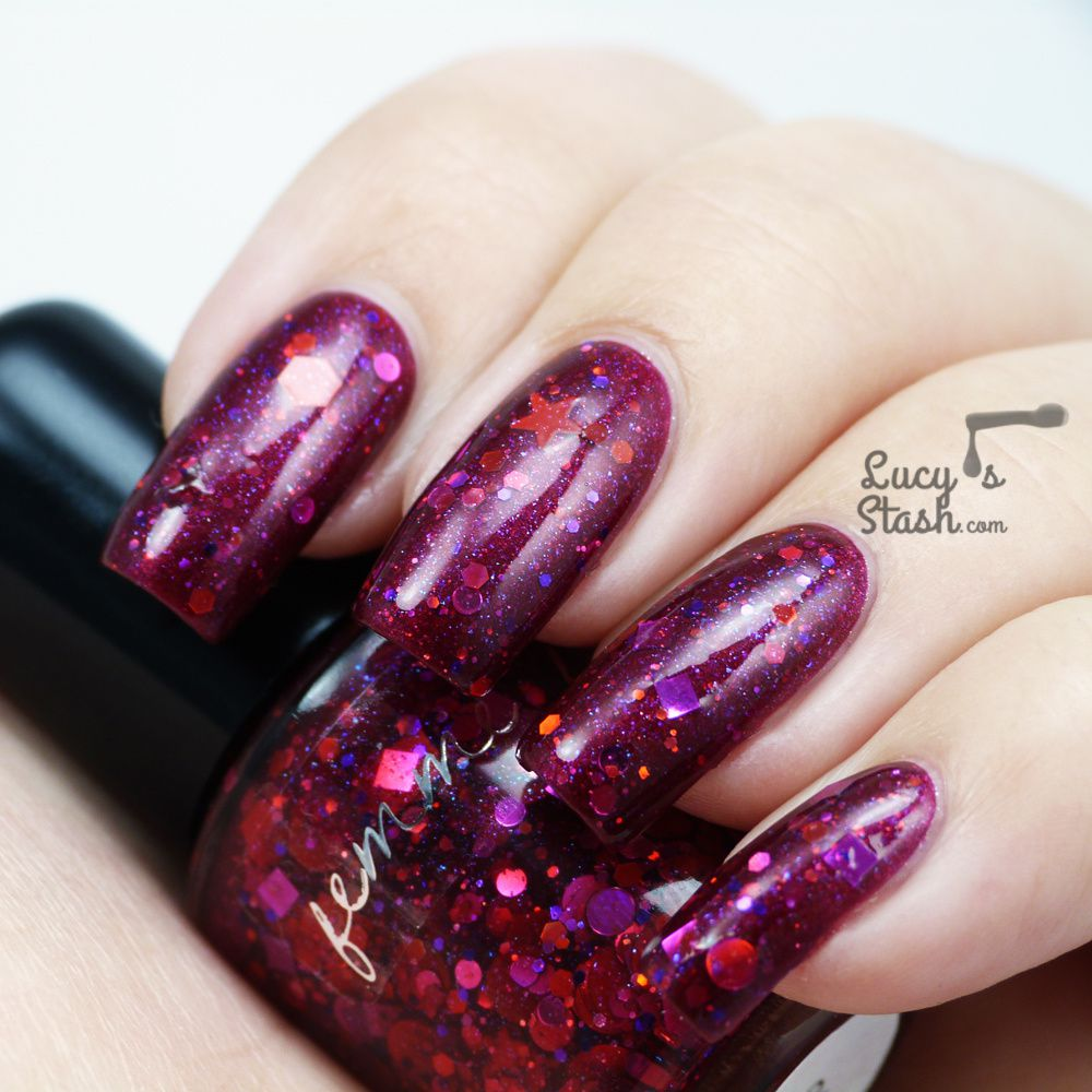 Femme Fatale Glitter Polishes - Review &amp&#x3B; Swatches