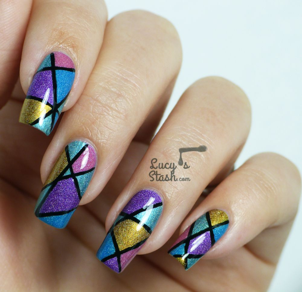 Abstract Holo Nail Art Design With Tutorial Lucys Stash inside Abstract Nail Art Design Images